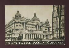Germany COLOGNE KOLN Domhotel advert c1900s? RP PPC
