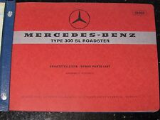 Mercedes-Benz Type 300SL Roadster Spare Parts List Edition C