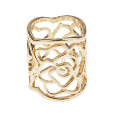 Hollow Rose Scarf Ring Buckle Slide Tube Scarf Jewelry Gold