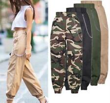 Women Pants High Waist Ankle Jogger Cropped Harem Loose Casual Trousers