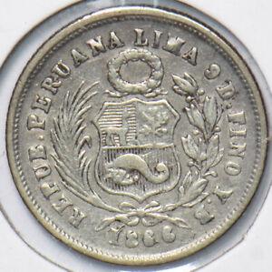 Peru 1866 Dinero 192777 combine shipping