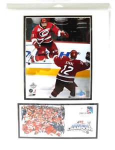 """2006 Carolina Hurricanes Stanley Cup Champions Matted Photos STAAL 16"""" x 12"""""""