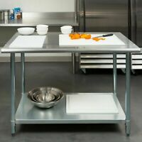 "30"" x 48"" Stainless Steel Work Prep Table with Undershelf Kitchen Restaurant"