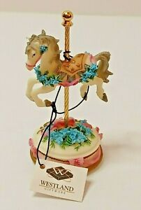 """1999 Westland Carousel Horse Musical Vintage Plays """"My  unchained melody"""""""