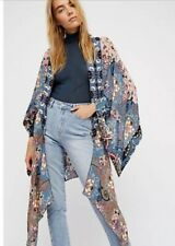 NWT Free People Little Wing Mix Print Kimono Duster, One Size