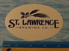 BEER STICKER <> St LAWRENCE Brewing Co <> Canton, NEW YORK ** 100s More in STORE