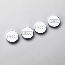 Laser Etched 4Pc Audi Car License Plate Frame Bolts Fastener Screws Cap Cover