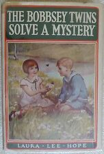 THE BOBBSEY TWINS SOLVE A MYSTERY by Laura Lee Hope 1934 HC