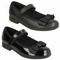 GIRLS CLARKS SCALA TAP BOW DESIGN RIP TAPE SHOES