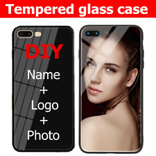 For iPhone 12 11 Pro XS Max X 8 7 Plus Personal Custom Tempered Glass Phone Case