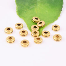 Wholesale Round Flat No Pattern Gold Spacer Loose Beads Jewelry Findings DIY