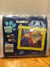"Blues Clues Bed skirt Twin Dust Ruffle 39x75"" 1999 Viacom"