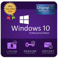 INSTANT & GENUINE WINDOWS 10 PROFESSIONAL 32/64 BIT PRO ACTIVATION CODE KEY 🔑
