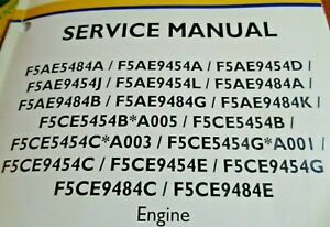 New Holland F5AE5484A to F5CE9484E Engine Service Repair Manual Original! NH
