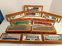 TYCO HO Scale Lot of 10! Boxes- Train- Locomotive- Track- Car- Tanker- Vintage!!