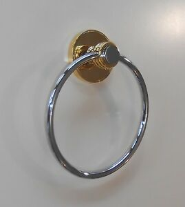 DONNA  TOWEL RING - BRIGHT GOLD / POLISHED CHROME