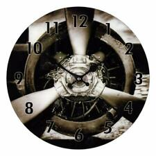 Vintage Style Propeller Design Wall Clock 34cm W7875