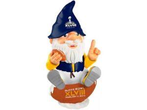 "Licensed NFL 12"" Garden Gnome Super Bowl XLVIII Seattle Seahawks Championship"