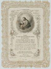 Votivkarte, Votivbild m. Zierwerk u. Darstl. Jesu, 19. Jhd., Stahlst.