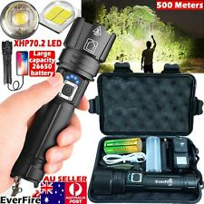 High Power 999000LM CREE XHP70.2 Zoom Flashlight LED Rechargeable Torch Headlamp