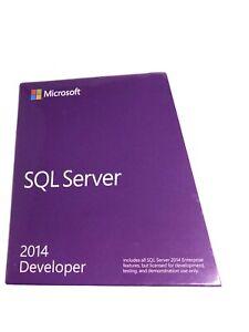 BRAND NEW Microsoft SQL Server 2014 Developer E32-01098 genuine