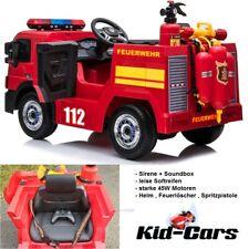 Feuerwehrauto 2x 45W Feuerwehrmann Sam Kinderauto Kinder Feuerwehr Elektroauto