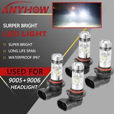 ANYHOW 9005+9006 Combo LED Hi-Low Beam Headlight Fog Lights 6000K White Bulb Kit