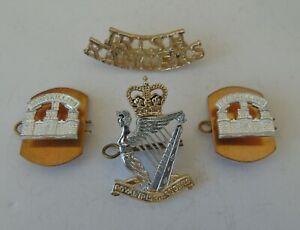 British Army Royal Irish Rangers Anodised Cap/Collar Badges & Shoulder Title