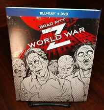 World War Z (Blu-ray+DVD)Special Collector Slipcover-NEW-Free S&H w/Tracking