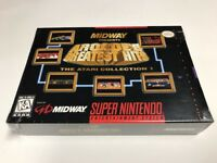 Midways Arcade Greatest Hits Super Nintendo The Atari Collection FACTORY SEALED