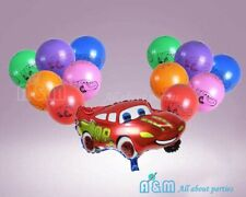 Cars Lightning McQueen Balloon Set Birthday Party Decoration (12 latex + 1 Foil)