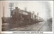 WABASH RR Pacific Type 4-6-2 Steam Loco  OH  OHIO  Old Antique Vintage Postcard