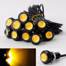 10x Yellow Amber 9W LED Eagle Eye Car DRL Daytime Running Turn Signal Light 18MM