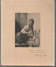 gravure originale de Henry CHEFFER.Dédicace autographe