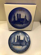 Vintage Goebel W. Germany 1972 Munich Olympics Porcelain Plate w/ Original Box