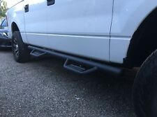 09-14 Ford F-150 Crew Cab HOOP STYLE Dropped Steps Texture Matte BLK Nerf Bars