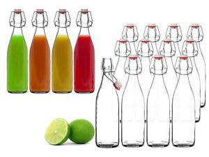 Bügelflaschen 500ml klein leer Einmach Flaschen für Likör Saft Öl zum Befüllen
