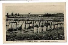 CPA-Carte Postale-FRANCE-Vauxbuin-Cimetière militaire-Tombe Anglaise etFrançaise