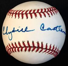 "RARE Clydell ""Slick"" Castelman d.98 JSA Signed Baseball New York Giants 1934-39"