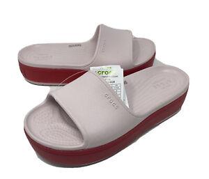 Crocs Crocband Platform Slide sandal Womens size 9 Mens size 7 Pink> NEW