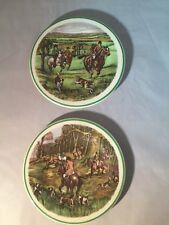 Cerámica de Liverpool Road, plato de china, diseño de caballo y Hound