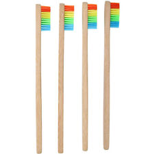 Colorful Wood Rainbow Color Toothbrush Oral Hygiene Wooden Handle Oral Care