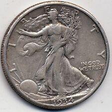 1934-S XF  (EXTREMELY FINE) , WALKING LIBERTY HALF DOLLAR
