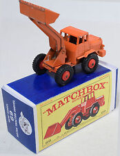MATCHBOX #69 HATRA TRACTOR SHOVEL, ORANGE W/ RED WHEELS EXC W/ REPRO BOX