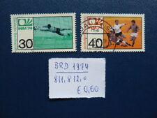 BRD 1974, Fußball-Weltmeisterschaft Deutschland, Michel 811, 812, o