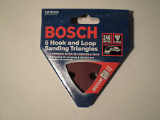 Bosch CS240 Sanding Triangles Hook And Loop 240 Grit, 6 Hole (5 Pieces)