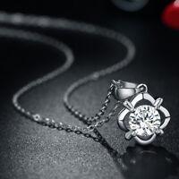 Fashion Elegant Pendant Necklace Round Cubic Zircon Necklace Pendant Jewelry r
