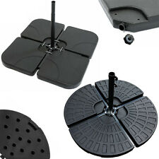 More details for 4pc outdoor cantilever umbrella parasol base stand weights sand water filled