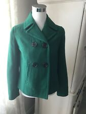 Gap, Green Wool Blend Pea Coat, Womens XS