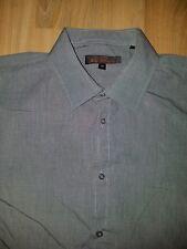 Mens Grey 100% Cotton Ben Sherman Shirt Size 42   BIN B